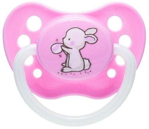 Купить Соска-пустышка силиконовая little cutie 0-6 розовый цена