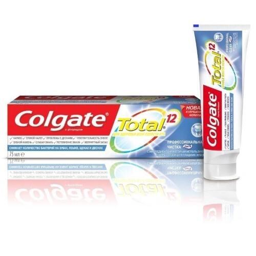 Купить Total 12 профессиональная чистка зубная паста 75мл цена