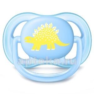 Avent пустышка силиконовая ultra air для мальчиков 0-6мес n1 /рисунок/scf544/10
