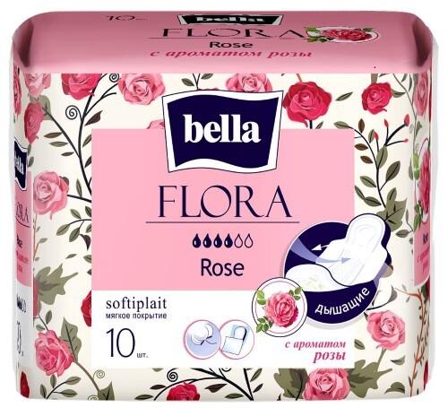 Купить BELLA ПРОКЛАДКИ FLORA ROSE C АРОМАТОМ РОЗЫ N10 цена