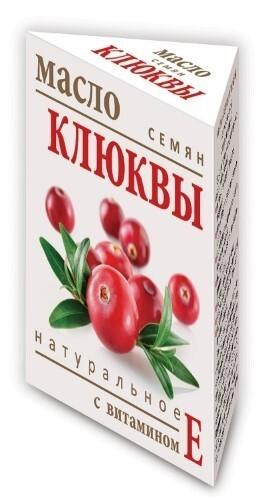 Купить Масло семян клюквы натуральное с витамином е 15мл цена