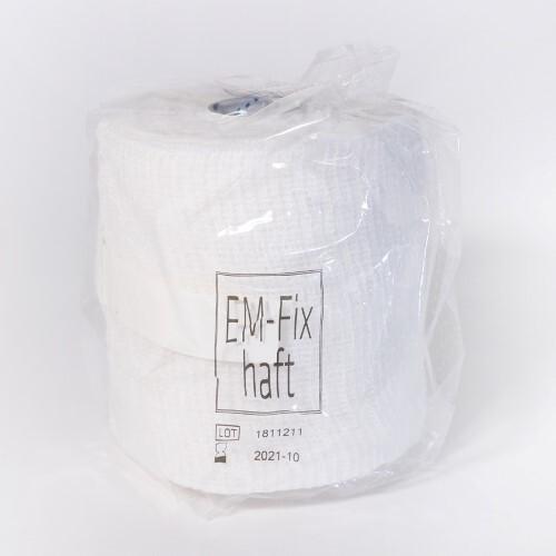 Бинт медицинский эластичный самофиксирующийся em-fix haft 10смх20м /белый