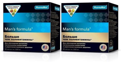 Купить Набор со скидкой 300 рублей «тройная поддержка мужского иммунитета» - man's formula больше чем поливитамины цена