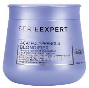 Купить Loreal professionnel serie expert blondifier маска восстанавливающая для сияния мелированных или осветленных волос 250мл цена