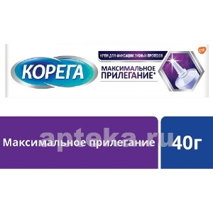 Крем для фиксации зубных протезов максимальное прилегание 40,0