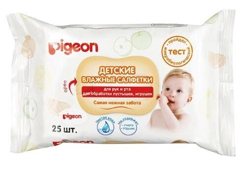 Купить Набор pigeon аспиратор назальный 0+ и pigeon салфетки влажные детские для рук и лица n25 по специальной цене цена