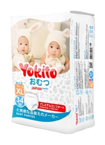 Купить YOKITO ПОДГУЗНИКИ-ТРУСИКИ ДЕТСКИЕ XL 12+КГ N34 цена