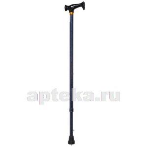 Трость amcт23 инвалидная телескопическая металлическая ортопедическая с пластиковой рукояткой /синий/