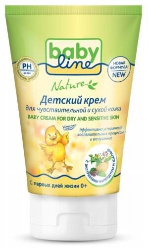 Купить Nature  детский крем для очень чувствительной и сухой кожи с пантенолом 125мл цена