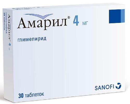 Купить АМАРИЛ 0,004 N30 ТАБЛ цена