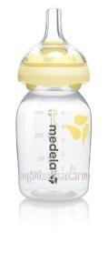 Бутылочка/контейнер с соской силиконовой calma 150мл