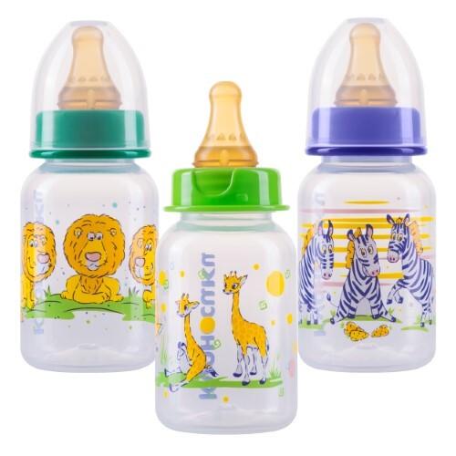 Купить Бутылочка полипропиленовая с латексной соской 0+ 125мл /11144 цена