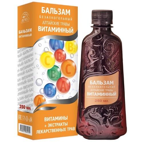 Алтайские травы витаминный бальзам безалкогольный