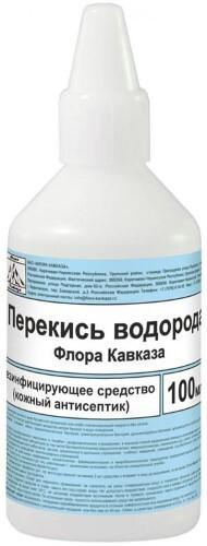 Купить Перекись водорода флора кавказа ср-во дезинф кожный антисептик 100мл цена