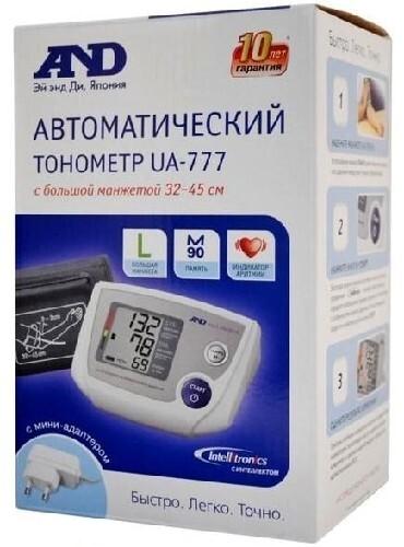 Тонометр ua-777l автомат с адаптером большая манжета