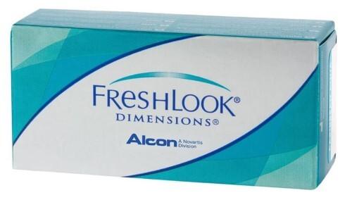 Купить Freshlook dimension цветные контактные линзы плановой замены цена