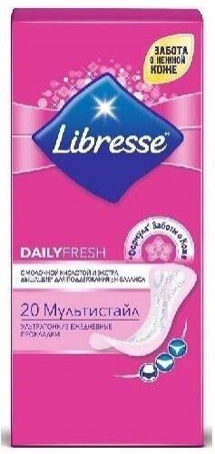 Купить Dailyfresh мультистайл ультра тонкие ежедневные прокладки n20 цена
