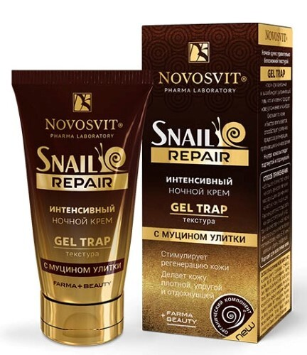 Купить Snail repair интенсивный ночной крем gel trap с муцином улитки 50мл цена