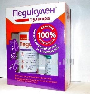 Купить Ультра средство педикулицидное /лосьон 50мл+кондиционер-спрей 150мл цена