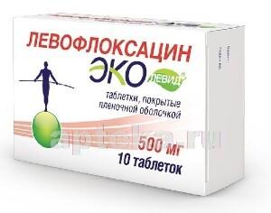 Купить Левофлоксацин эколевид цена
