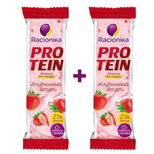 Купить Набор рационика protein батончик со вкусом клубничный йогурт 45,0 закажи 2 уп. со скидкой 15% цена