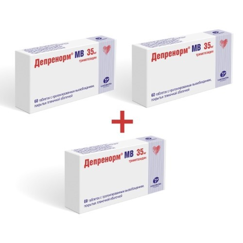 Купить Набор из 3х упаковок депренорм мв 0,035 n60 табл пролонг п/плен/оболоч по цене двух цена