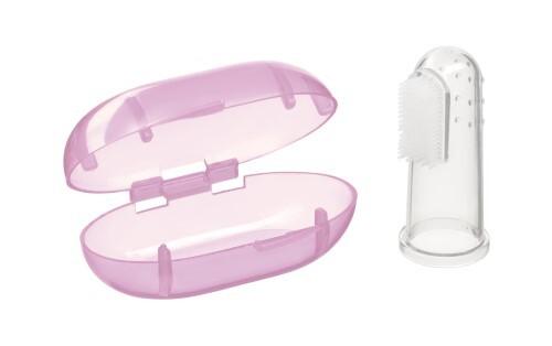 Купить Зубная щетка на палец с футляром finger silicone 6+ цена