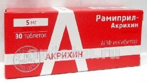 Рамиприл-акрихин 0,005 n30 табл