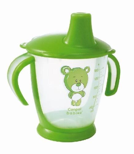 Поильник-непроливайка медвежонок 180мл 9+/зеленый