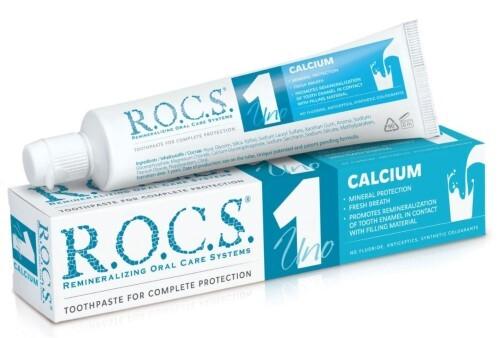 Купить Зубная паста r.o.c.s. uno calcium 74,0 цена