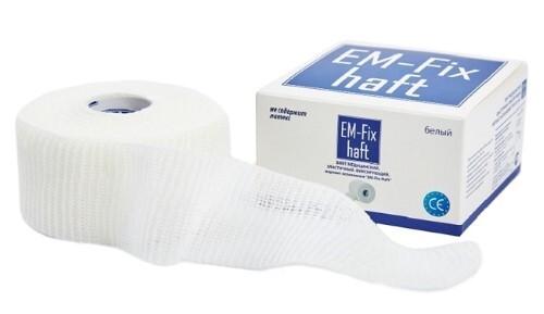 Купить Бинт медицинский эластичный фиксирующий em-fix haft 4смх10м/белый цена