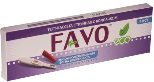 Тест для определения беременности высокочувствительный favo /тест-кассета струйная