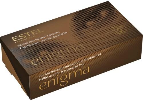 Professional enigma краска для бровей и ресниц в наборе тон светло-коричневый 20мл
