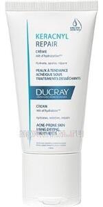 Купить Keracnyl repair восстанавливающий крем для проблемной кожи склонной к акне 50мл цена