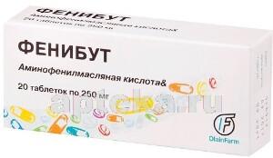 Купить Фенибут 0,25 n20 табл /олайнфарм/ цена