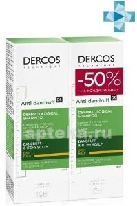 Купить Dercos интенсивный шампунь-уход против перхоти для сухих волос 200мл n2 цена