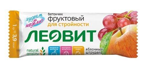 Купить Худеем за неделю батончик фруктовый яблочный штрудель 30,0 цена