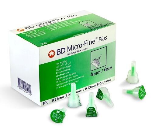 Иглы для шприц-ручки bd micro-fine plus 32g 0,23х4мм одноразового использования n100