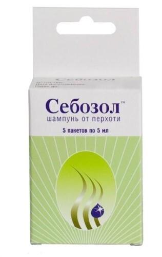 Купить Себозол шампунь от перхоти 5мл n5 пак цена