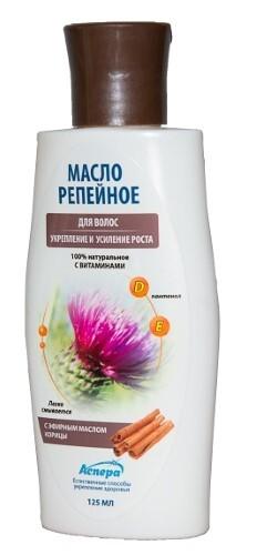 Купить Масло для волос репейное легкосмываемое с эфирным маслом корицы 125мл цена