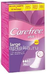 Plus large прокладки ежедневные экстра защита с легким ароматом большой размер n36
