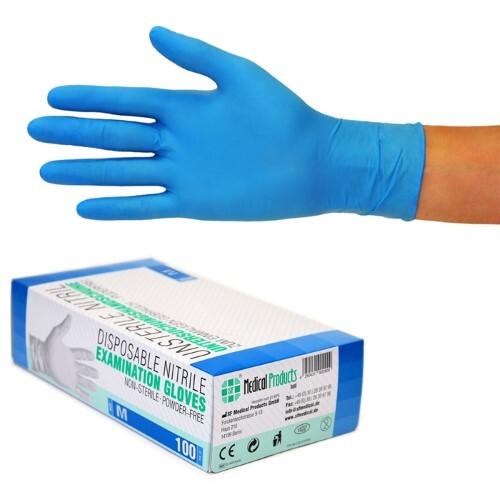 Купить Перчатки диагностические sf gloves нитриловые нестерильные неопудренные n50 пар м/синий цена
