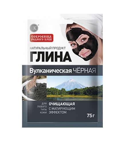 Купить Глина вулканическая черная очищающая 75,0 саше цена