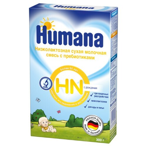 Купить Hn смесь сухая молочная низколактозная с пребиотиками с рождения 300,0 цена