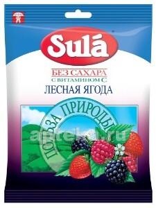 Леденцы sula б/сахара 60,0 /лесная ягода/