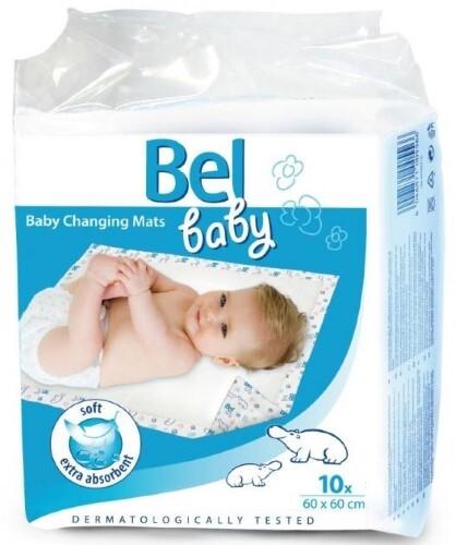 Купить BEL BABY ПЕЛЕНКИ ВПИТЫВАЮЩИЕ ГИГИЕНИЧЕСКИЕ ДЕТСКИЕ CHANGING MATS 60Х60 N10 цена
