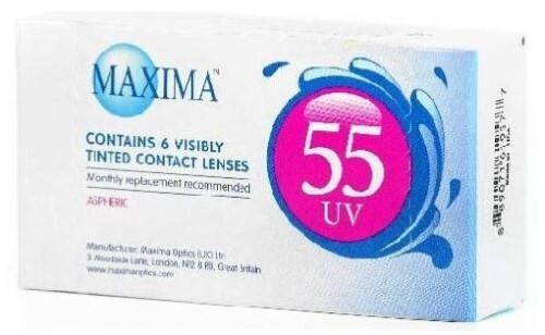 Купить MAXIMA 55 UV КОНТАКТНЫЕ ЛИНЗЫ ПЛАНОВОЙ ЗАМЕНЫ /-7,50/ N6 цена