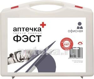 Аптечка первой помощи фэст /офисная/n1 футляр пластмассовый