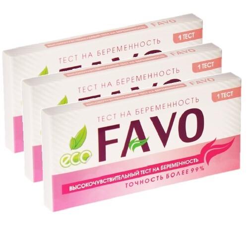 Купить Набор из 3 уп. тест д/опр беременности высокочув favo n1 - по специальной цене цена