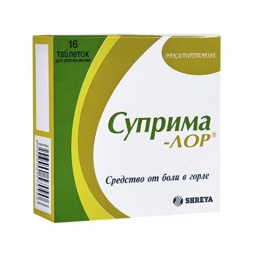 Купить СУПРИМА-ЛОР ЭВКАЛИПТ N16 ТАБЛ Д/РАССАС цена